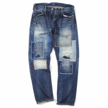 DENIM BY VANQUISH & FRAGMENT Patchwork Wide Straight Denim pants.