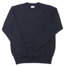 DENIM BY VANQUISH & FRAGMENT Damage Crew neck Knit. -dark gray-