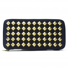 THE COLOR NYLON STUDS WALLET -navy-