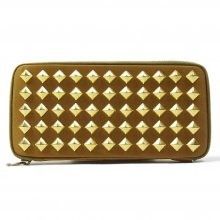 THE COLOR NYLON STUDS WALLET -beige-