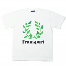 TRANSPORT LAUREL flocky print T-SHIRT WHITE
