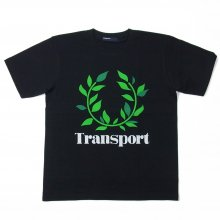 TRANSPORT LAUREL flocky print T-SHIRT BLACK