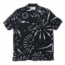 "THE OVERALLS ""ALOHA SHIRTS made by ALOHA BROSSAM"" black"