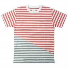 RISEY SBY TEE -l.red/gray-