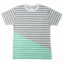 RISEY SBY TEE -gray/turquise-