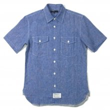 TRANSPORT × UNRIVALED / ACOUSTIC SHIRT《type 2》 -sax blue-