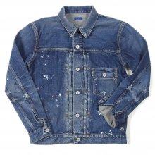 DENIM BY VANQUISH & FRAGMENT Paint denim jacket.