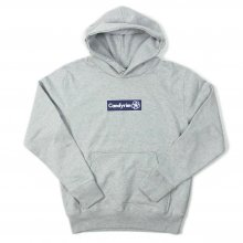 CANDYRIM -wareline- BOX LOGO PULLOVER HOODIE -heather gray/navy-