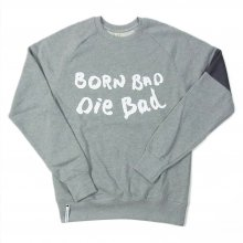 "AKA SIX simon barker ""BORN BAD SWEAT SHIRT"" -gray-"