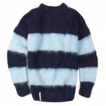 "AKA SIX simon barker ""MOHAIR JUMPER"" -navy/lt.blue-"