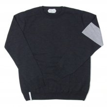 "AKA SIX simon barker ""MELINO WOOL JUMPER"" -gray-"