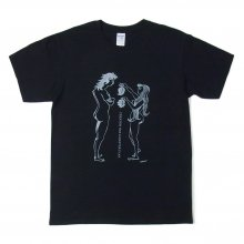 "もろ・ただし × FRAGMENT ""ADAM AND EVE TEE"" -black-"