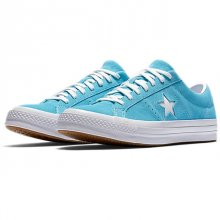 <img class='new_mark_img1' src='https://img.shop-pro.jp/img/new/icons14.gif' style='border:none;display:inline;margin:0px;padding:0px;width:auto;' />CONVERSE ONE STAR CLASSIC SUEDE LOW TOP -cyan-