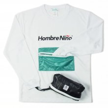 <img class='new_mark_img1' src='https://img.shop-pro.jp/img/new/icons14.gif' style='border:none;display:inline;margin:0px;padding:0px;width:auto;' />Hombre Nino × CORONA ZIPPER POCKET PACKABLE TEE -white-