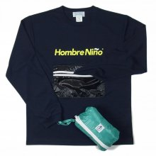Hombre Nino × CORONA ZIPPER POCKET PACKABLE TEE -navy-