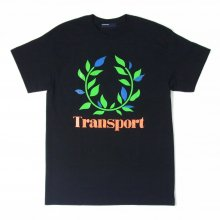 TRANSPORT Laurel Neon Print TEE -black-