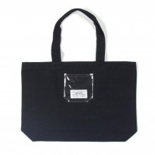 PEEL&LIFT PVC pocket canvas torte bag -black-