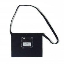PEEL&LIFT PVC pocket canvas sacoche -black/clear-