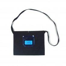 PEEL&LIFT PVC pocket canvas sacoche -black/blue-