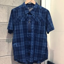 <img class='new_mark_img1' src='https://img.shop-pro.jp/img/new/icons14.gif' style='border:none;display:inline;margin:0px;padding:0px;width:auto;' />THE FABRIC INDIGO GAS SHIRTS -check 2-