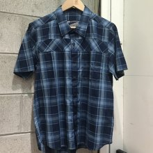 【M size only】THE FABRIC INDIGO GAS SHIRTS -check 3-