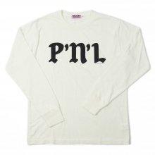 PEEL&LIFT P'N'L L/S tee -white-