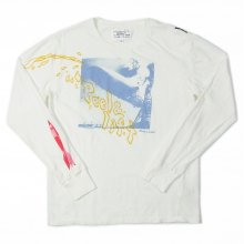 PEEL&LIFT PISS L/S tee -white-
