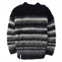 "AKA SIX simon barker ""MOHAIR SCRAP"" -black/gray/white-"