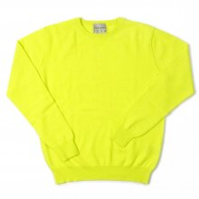 JUMPER1234 CREW NECK CASHMERE KNIT -neon yellow-
