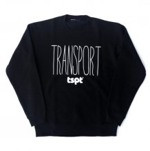 <img class='new_mark_img1' src='//img.shop-pro.jp/img/new/icons14.gif' style='border:none;display:inline;margin:0px;padding:0px;width:auto;' />TRANSPORT tspt LOGO SWEAT -black-