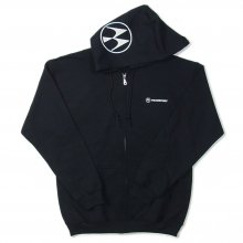 TRANSPORT SWEAT ZIP HOODIE -black-