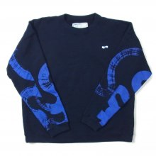 THE FABRIC UNSMERT SWEAT KAMI collaboration -navy-