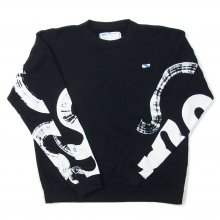 THE FABRIC UNSMERT SWEAT KAMI collaboration -black-