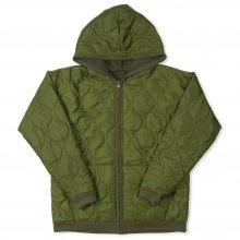 THE FABRIC DOUBLE FACE PARKER -olive-