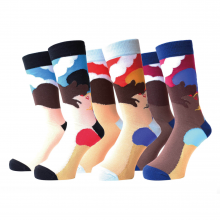 """WHIMSY """"AFTERNOON DELIGHT SOCKS"""""""
