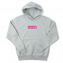 <img class='new_mark_img1' src='https://img.shop-pro.jp/img/new/icons14.gif' style='border:none;display:inline;margin:0px;padding:0px;width:auto;' />CANDYRIM -wareline- BOX LOGO PULLOVER HOODIE -heather gray/neon pink-