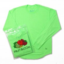 Hombre Nino × FRUIT OF THE LOOM 2PACK L/S TEE -n.green-