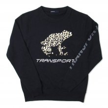 <img class='new_mark_img1' src='//img.shop-pro.jp/img/new/icons14.gif' style='border:none;display:inline;margin:0px;padding:0px;width:auto;' />TRANSPORT LEOPARD FROG Light Sweat -black-