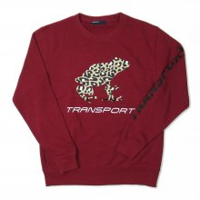 TRANSPORT LEOPARD FROG Light Sweat -burgundy-