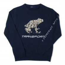 <img class='new_mark_img1' src='//img.shop-pro.jp/img/new/icons14.gif' style='border:none;display:inline;margin:0px;padding:0px;width:auto;' />TRANSPORT LEOPARD FROG Light Sweat -navy-