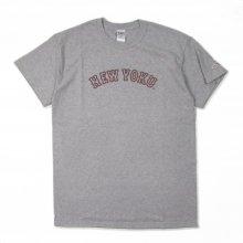 THE UNIIN NEWYOKU NEON TEE -gray-