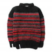 "AKA SIX simon barker × FRAGMENT DESIGN ""MOHAIR JUMPER"" -brack/red/gray-"
