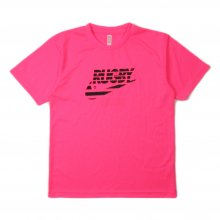 O3 RUGBY GAME wear & goods THE RUGBY BLACKS dry TEE -neonpink-