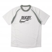 O3 RUGBY GAME wear & goods THE RUGBY BLACKS dry TEE -white/gray-