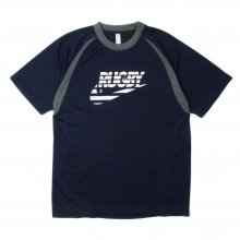 O3 RUGBY GAME wear & goods THE RUGBY BLACKS dry TEE -navy/gray-