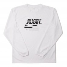 O3 RUGBY GAME wear & goods THE RUGBY BLACKS dry L/S TEE -white-
