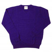 <img class='new_mark_img1' src='//img.shop-pro.jp/img/new/icons14.gif' style='border:none;display:inline;margin:0px;padding:0px;width:auto;' />JUMPER1234 CREW NECK CASHMERE KNIT -violet-