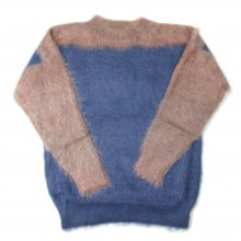 PEEL&LIFT MOHAIR JUMPER -blue/beige-