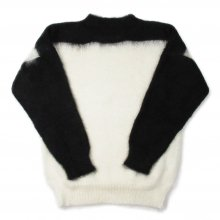 PEEL&LIFT MOHAIR JUMPER -white/black-