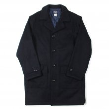 THE FABRIC WEST SIDE WOOL COAT -navy-